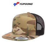 【YUPOONG】ユーポン|5パネル マルチカム  レトロトラッカーフラットバイザーキャップ