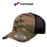 【YUPOONG】ユーポン|6パネル マルチカム  レトロトラッカーキャップ
