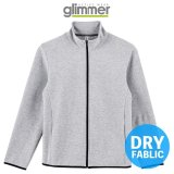 【glimmer】グリマー|7.7オンス ドライスウェットジップジャケット (裏ダブルニット)