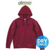 【glimmer】グリマー|10.0オンス ドライ裏フリースジップパーカー (裏起毛)