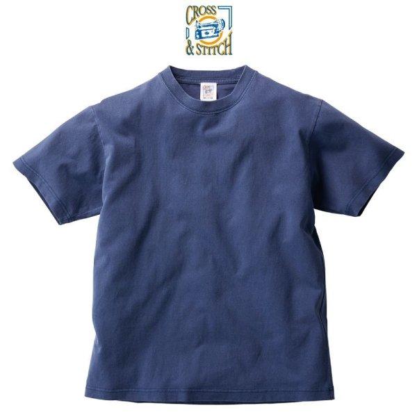 画像1: 【CROSS STITCH】クロススティッチ 6.2oz ピグメントTシャツ