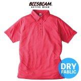 【BEES BEAM】ビーズビーム 4.0oz ファンクショナル ドライ BD ポロシャツ