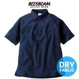 【BEES BEAM】ビーズビーム 4.3oz ボタンダウン ポロシャツ