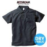【BEES BEAM】ビーズビーム 4.3oz ポケット付き アクティブ ポロシャツ