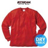 【BEES BEAM】ビーズビーム 4.1oz ファイバードライ ロングスリーブTシャツ