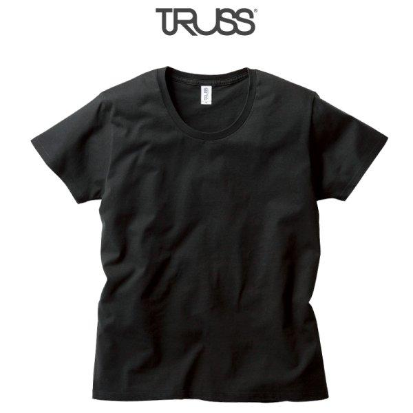 画像1: 【TRUSS】トラス | 4.3oz スリムフィット UネックTシャツ