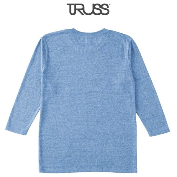 画像2: 【TRUSS】トラス | 4.4oz トライブレンド 3/4スリーブTシャツ