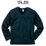 【TRUSS】トラス | 4.3oz スリムフィット VネックロングスリーブTシャツ