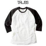 【TRUSS】トラス | 4.4oz トライブレンド ラグラン 7分袖Tシャツ