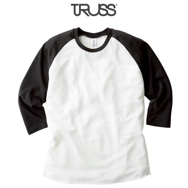 画像1: 【TRUSS】トラス | 4.4oz トライブレンド ラグラン 7分袖Tシャツ