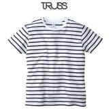 【TRUSS】トラス | 4.3oz ナローボーダー Tシャツ