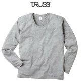 【TRUSS】トラス | 4.3oz スリムフィット UネックロングスリーブTシャツ