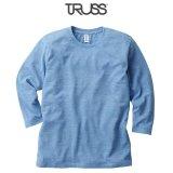 【TRUSS】トラス | 4.4oz トライブレンド 3/4スリーブTシャツ