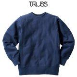 【TRUSS】トラス | 12.4oz ヘビーウェイトスウェットシャツ (裏起毛)