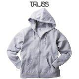 【TRUSS】トラス | 12.4oz ヘビーウェイト ジップパーカ (裏起毛)