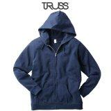 【TRUSS】トラス | 7.4oz スタンダード ジップパーカ (裏パイル)