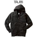【TRUSS】トラス | 6.2oz ジャージー ジップパーカ