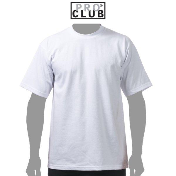 画像1: 【PRO CLUB】プロクラブ|6.5oz ヘビーウェイトTシャツ