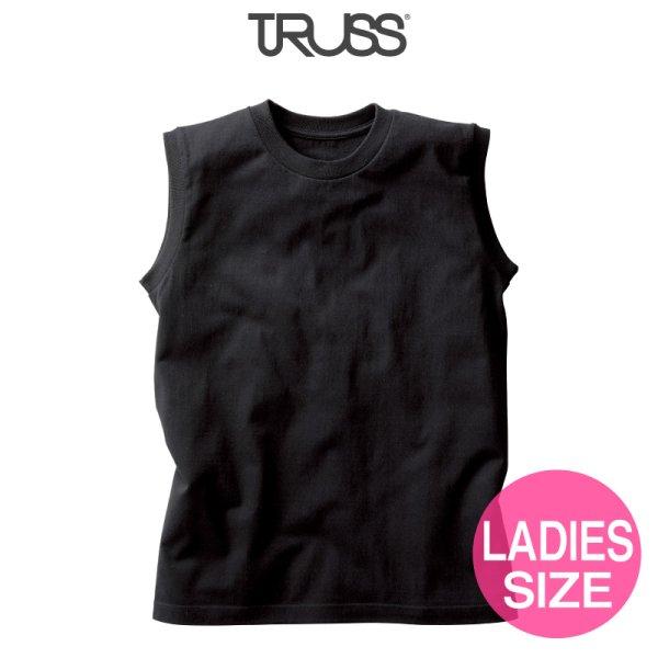 画像1: 【TRUSS】トラス | 5.3oz ウィメンズノースリーブ Tシャツ [WOS-808]