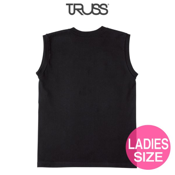 画像2: 【TRUSS】トラス | 5.3oz ウィメンズノースリーブ Tシャツ [WOS-808]