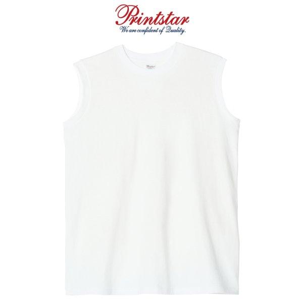 画像1: 【Printstar】プリントスター 5.6オンス ヘビーウェイトスリーブレスTシャツ