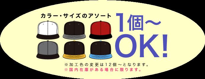 カラー・サイズアソート1個〜OK