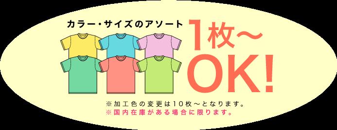カラー・サイズアソート1枚〜OK